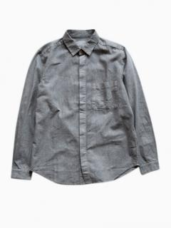 THE HINOKI Linen Cotton Work Shirt (Gray)
