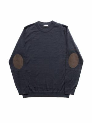 Wool Elbow Patch Sweater (C.Grey)