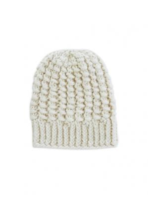 Alpaca Knit Cap (Off White)