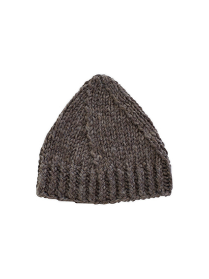 Roving Wool Knit Cap (Taupe)