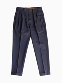 Honor gathering Washable Wool Pants (Dark Navy)