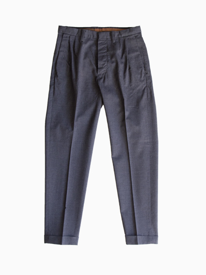 Honor gathering Washable Wool Pants (Chacoal Gray)