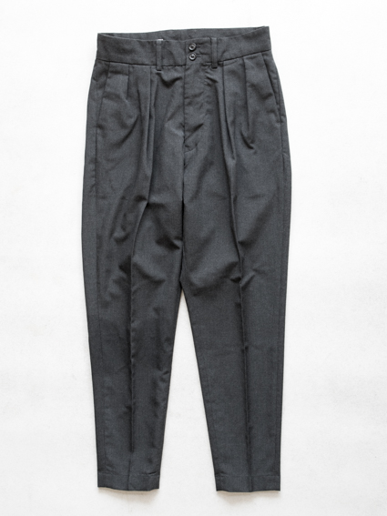 fake wool tropical deep rise slacks(c.gray)