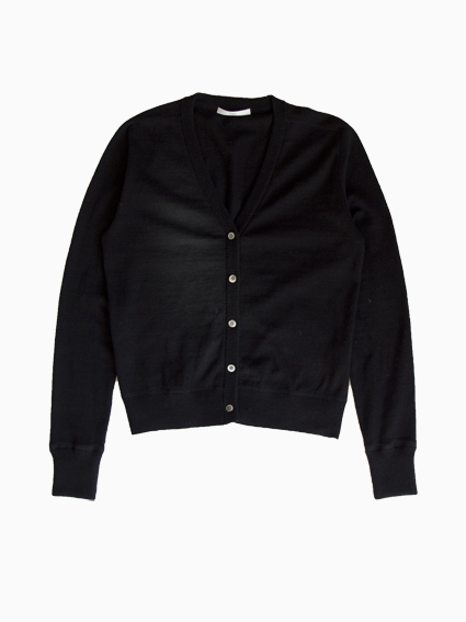 TARV Cotton Cashmere Cardigan (Black)