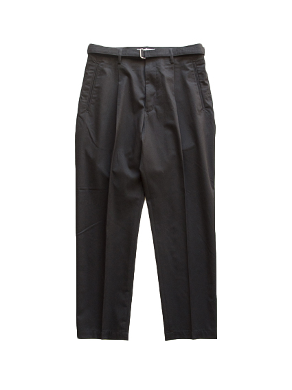 Belted 1Tuck Light Trousers (Black)