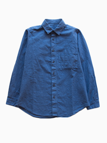 THE HINOKI Cotton Linen Work Shirt (Navy)