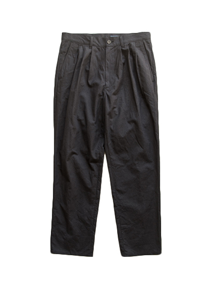 semoh Cotton Linen 3Tuck Pants (BLACK)