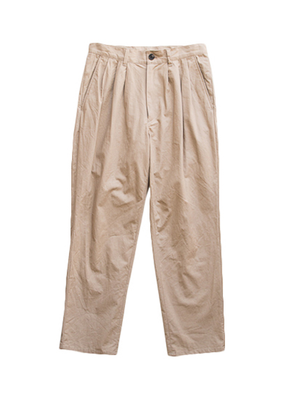 semoh Cotton Linen 3Tuck Pants (BEIGE)