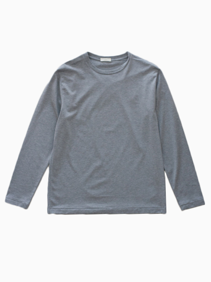 niuhans Suvin Cotton L/S Tee(Grey)