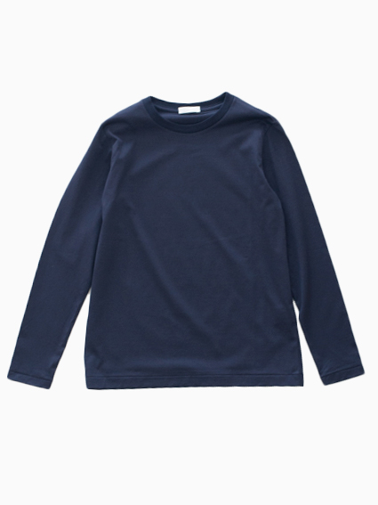 niuhans Suvin Cotton L/S Tee(Navy)