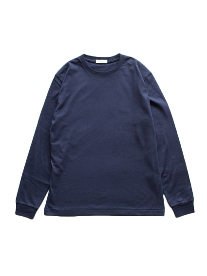 Suvin Cotton L/S Tee (Dark Navy)