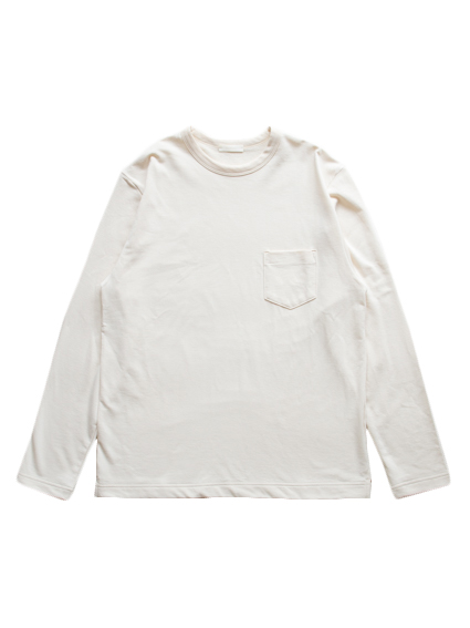 Smooth Cotton L/S Sweat Tee (Off White)