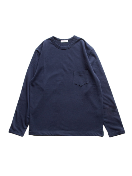Smooth Cotton L/S Sweat Tee (Dark Navy)