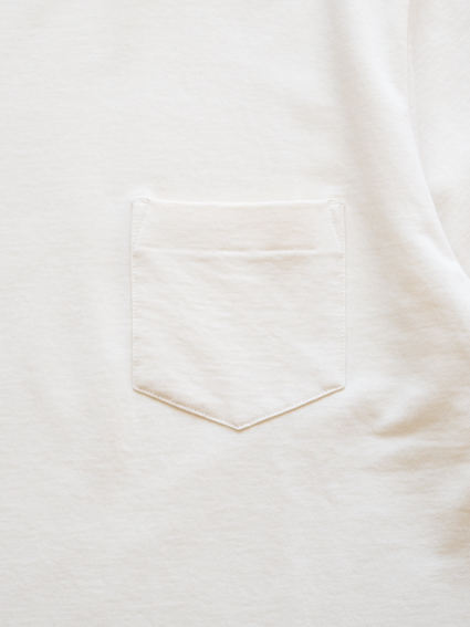 Smooth Cotton S/S Sweat Tee (Off White)