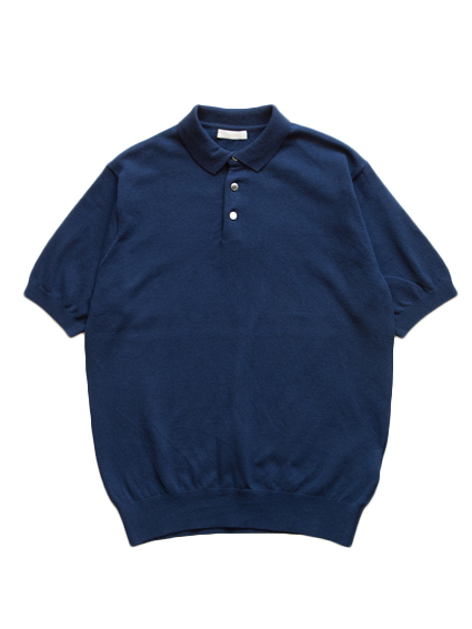 Smooth Cotton S/S Polo (Dark Navy)