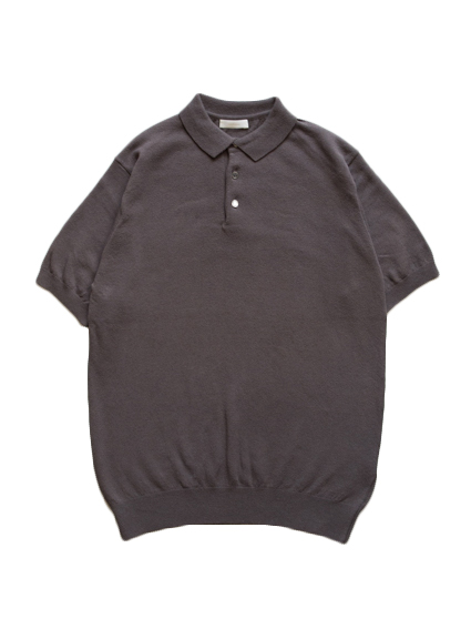 Smooth Cotton S/S Polo (Graysh Brown)