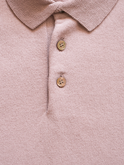 Smooth Cotton S/S Polo (Peach Beige)