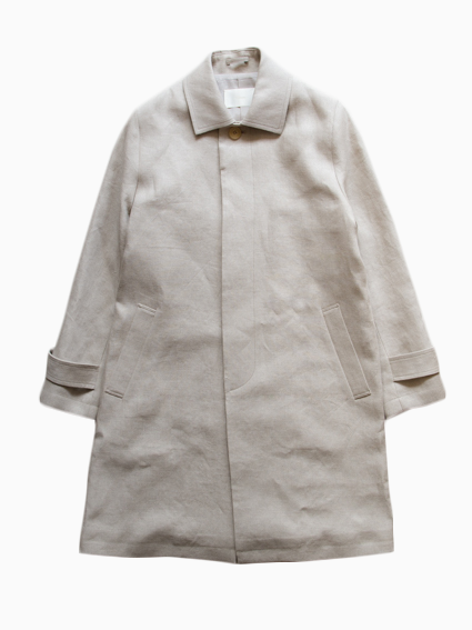 Irish Linen Stain Collar Coat (Ecru)