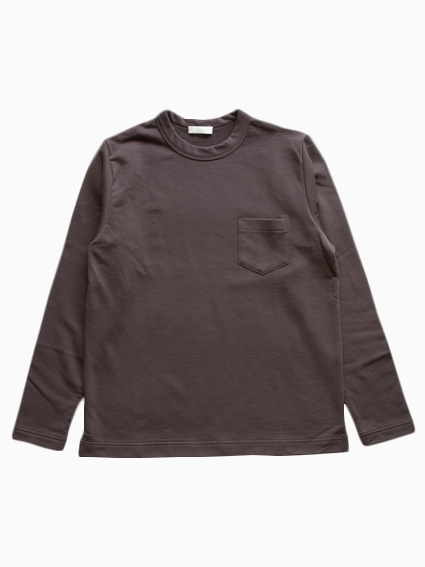 Smooth cotton L/S Sweat Tee  (Brown)
