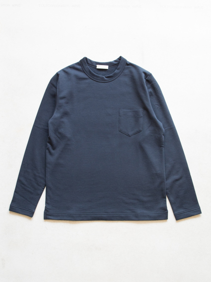 Smooth cotton L/S Sweat Tee  (Navy)