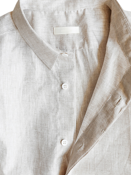 niuhans Linen Fly-front S/S Shirt