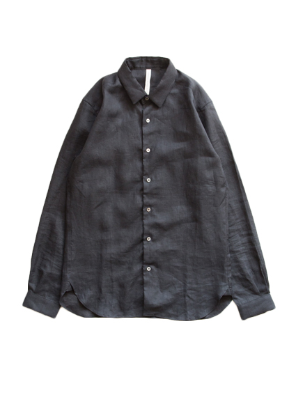 Linen Standard Shirt (Black) - Men`s