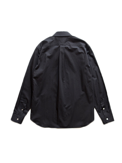 Cotton Regular Collar Shirt (Black)