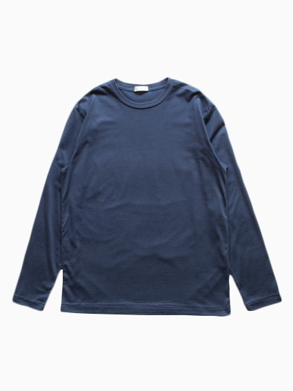 niuhans Suvin Cotton L/S Tee (Navy)