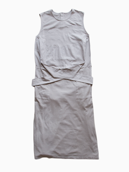 Organic Cotton Sleeveless Wrap Dress (Gray)