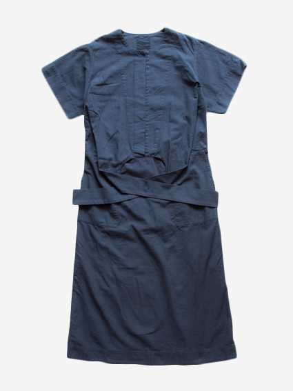 Organic Cotton S/S Wrap Dress (Midnight)