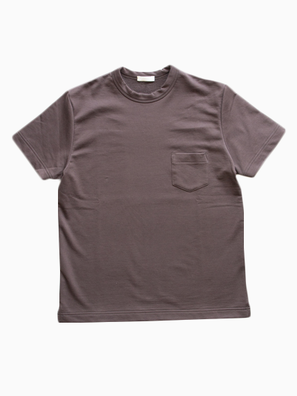 Smooth cotton S/S Sweat Tee  (Brown)
