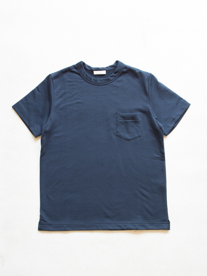 Smooth cotton S/S Sweat Tee  (Navy)