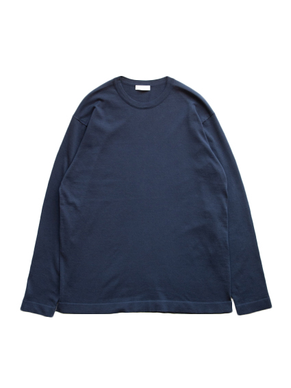 Fine Gauge Cotton L/S Sweater (Dark Navy)