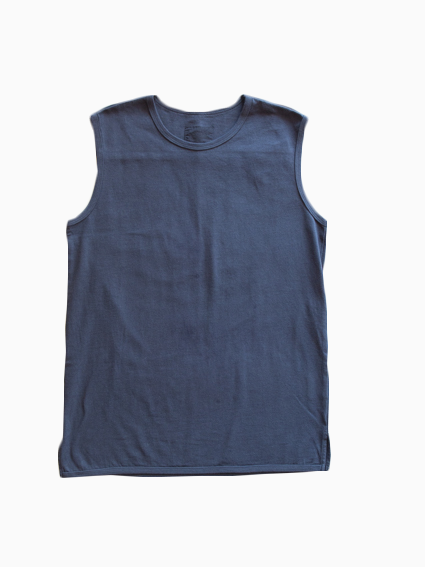 Organic Cotton Ringer Tank Top (Midnight)