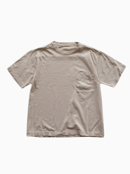 THE HINOKI Organic W Pocket T-Shirt (Beige)
