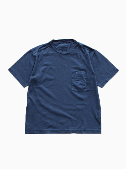 THE HINOKI Organic W Pocket T-Shirt (Navy)