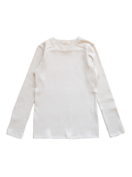 Organic Cotton Smooth L/S T-Shirt (Natural)