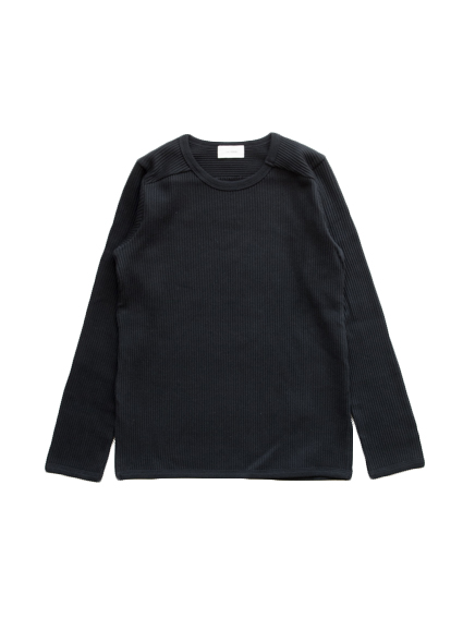 Organic Cotton Smooth L/S T-Shirt (Black)