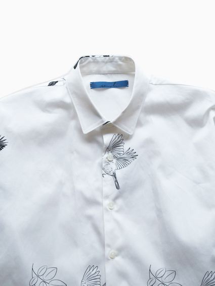 semoh Three-quarter sleeves Shirts (Flower&Bird)