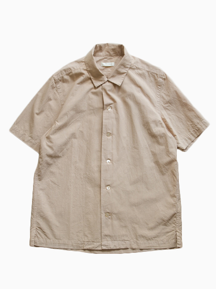Open Collar S/S Shirt  (Sand Beige)