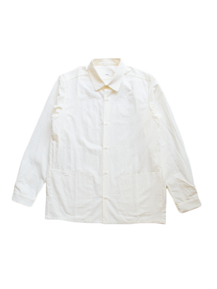 Cotton Round Collar Shirt (White)
