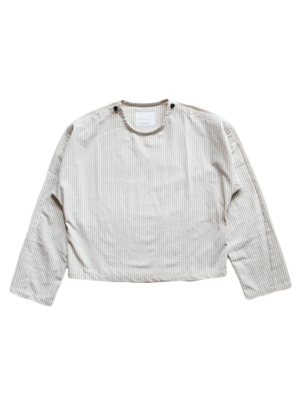 Cotton Pullover Shirt (Stripe)