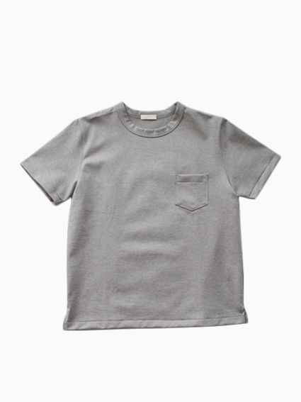 niuhans Heavyweight Cotton Pocket Tee (gray)