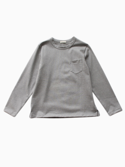 niuhans Heavyweight Cotton Pocket Long Tee (gray)