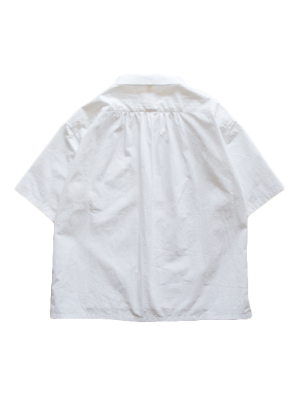 WIDE SHORT SLEEVE SHIRT (White) - Lady`s