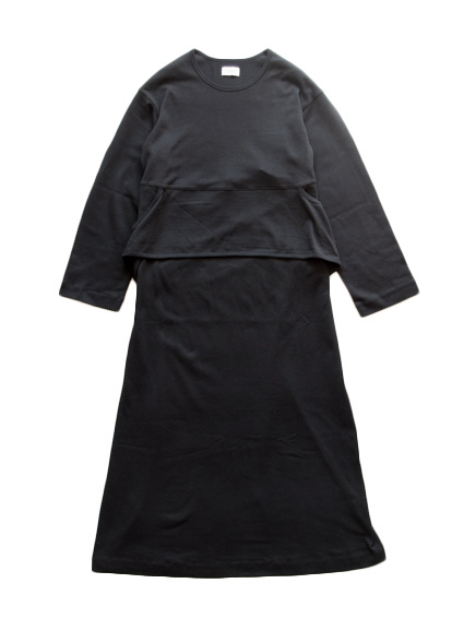 Cotton Belted Dress (Black)