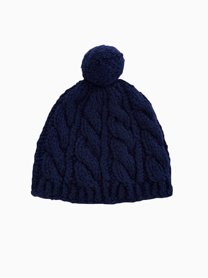 Rum Wool Knit Cap (Navy)