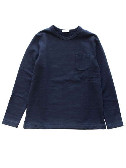 niuhans Heavyweight Cotton Fleece L/S shirts(Navy)