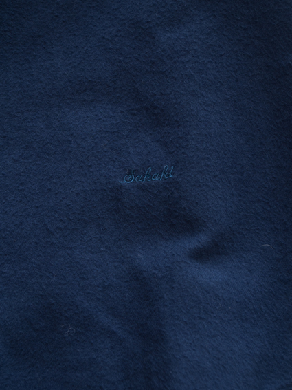 niuhans Botanical Dye Flannel Shirt (Navy)
