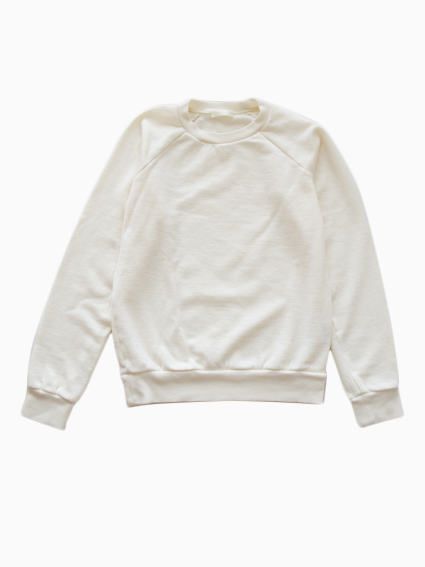 niuhans Wool Cotton Sweat Shirt(White)